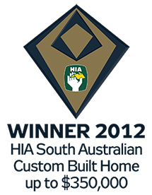 Shire Homes, Adelaide Hills - winner of the 2012 HIA South Australia award for a custom built home up to $350000