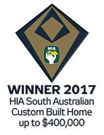 Shire Homes, winner of the 2017 HIA South Australia award for the best custom built home up to $400000