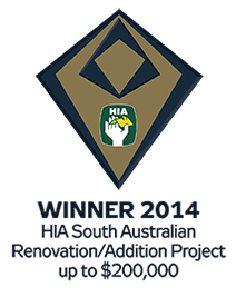 Shire Homes, Balhannah - winner of the 2014 HIA South Australia award for a renovation project up to $200000
