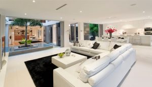 Open plan living design by Shire Homes, Adelaide Hills