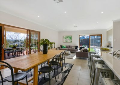 Family dining room in this designer Mt barker home by Shire Homes