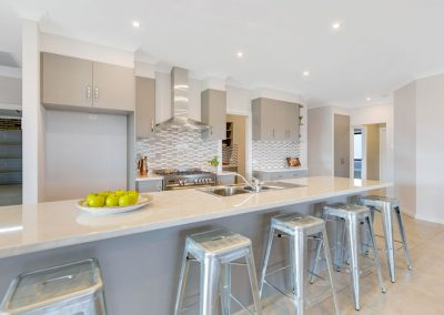 Open plan kitchen designed for functionality